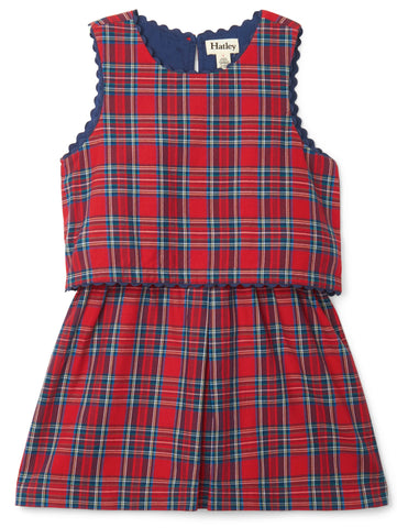 Hatley Plaid Layered Dress