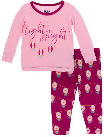 KicKee Pants Dragonfruit Lanterns L/S Pajama Set