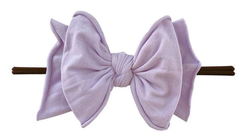Baby Bling Light Orchid / Brown FAB-BOW-LOUS Skinny Headband