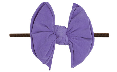 Baby Bling Amethyst / Brown FAB-BOW-LOUS Skinny Headband