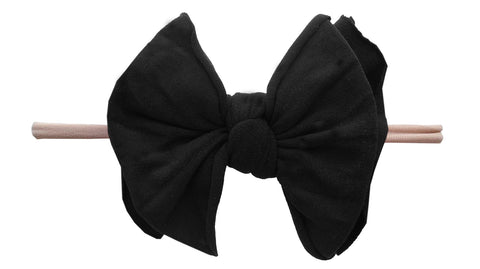 Baby Bling Black / Blush FAB-BOW-LOUS Skinny Headband