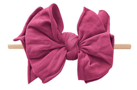 Baby Bling Raspberry / Blush FAB-BOW-LOUS Skinny Headband