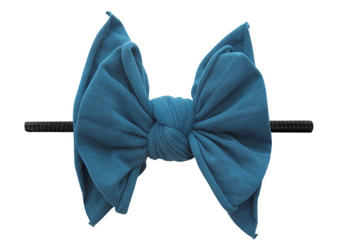 Baby Bling Peacock / Black FAB-BOW-LOUS Skinny Headband