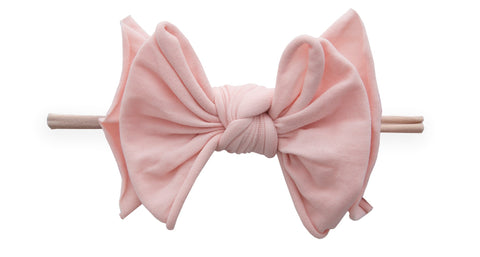 Baby Bling Rose Quartz / Blush FAB-BOW-LOUS Skinny Headband