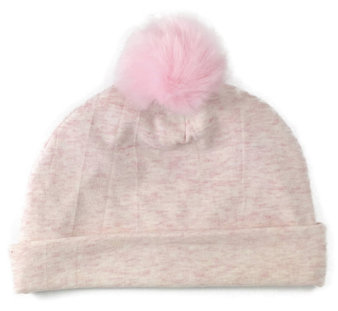 Baby Bling Pink Fur Pom Beanie - Basically Bows & Bowties