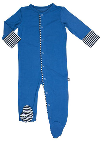 Sweet Bamboo Monaco Blue Footie
