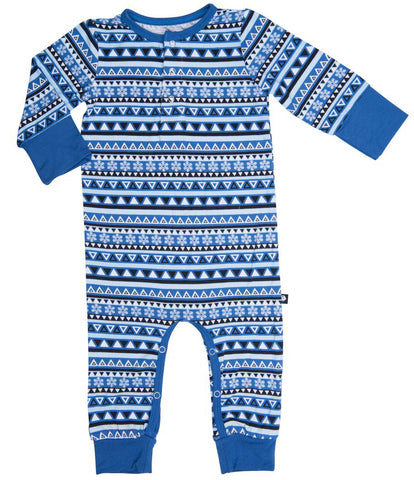 Sweet Bamboo Blue Tribal Romper
