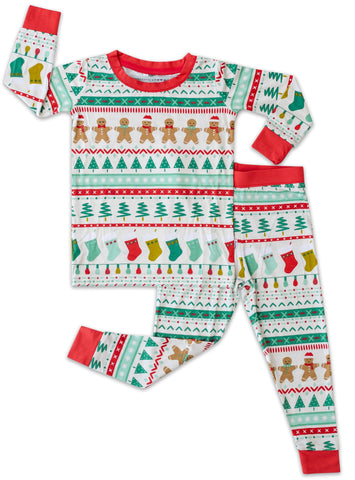 Little Sleepies Fair Isle Bamboo 2pc Pajama Set
