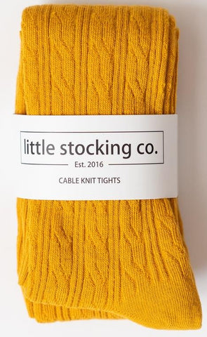 Little Stocking Co Marigold Cable Knit Tights