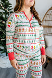 Little Sleepies Fair Isle Women's Bamboo 2pc Pajama Set