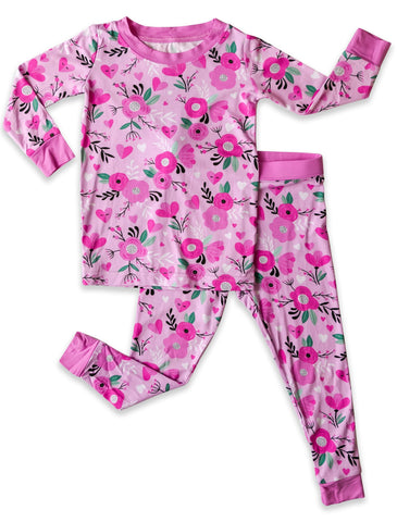 Little Sleepies Sweetheart Floral Bamboo 2pc Pajama Set