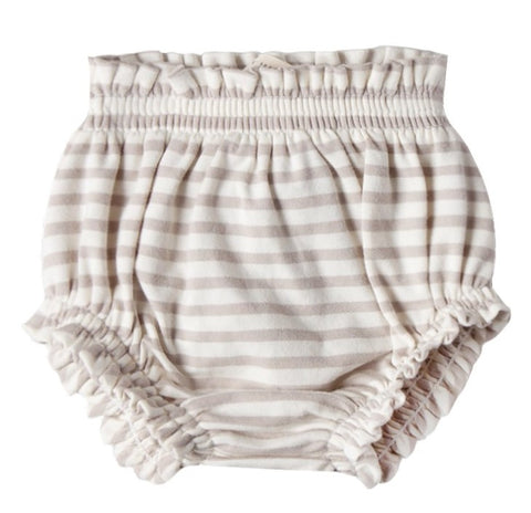 Quincy Mae Fog Stripe Gathered Bloomer