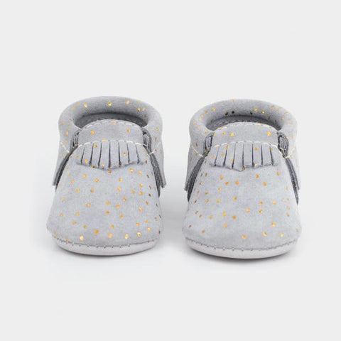 Freshly Picked Grey Confetti Moccasins - Basically Bows & Bowties
