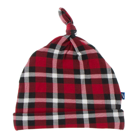 KicKee Pants Crimson 2020 Holiday Plaid Knot Hat