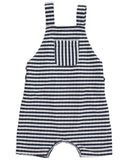Me & Henry Blue & White Stripe Shortie Overall