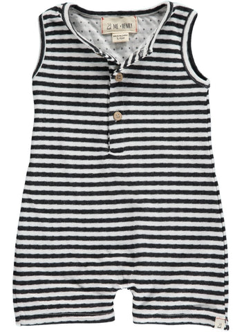 Me & Henry Black & White Stripe Playsuit