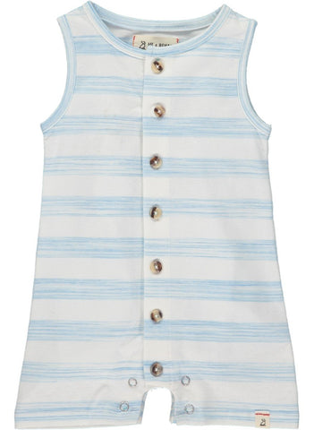 Me & Henry Blue Stripe Jersey Playsuit