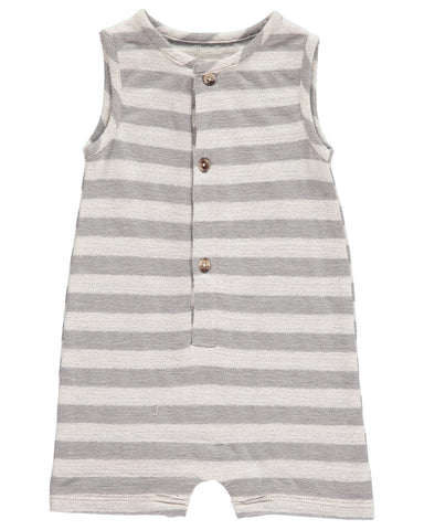 Me & Henry Grey Striped Romper