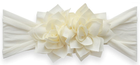 Baby Bling Ivory Holiday Poinsettia Headband