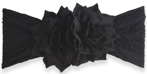 Baby Bling Black Holiday Poinsettia Headband