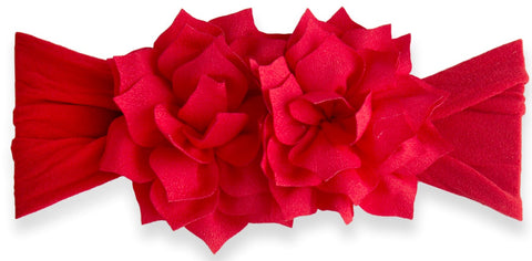 Baby Bling Red Holiday Poinsettia Headband