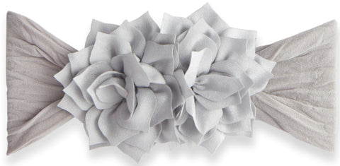 Baby Bling Silver Holiday Poinsettia Headband