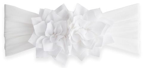 Baby Bling White Holiday Poinsettia Headband