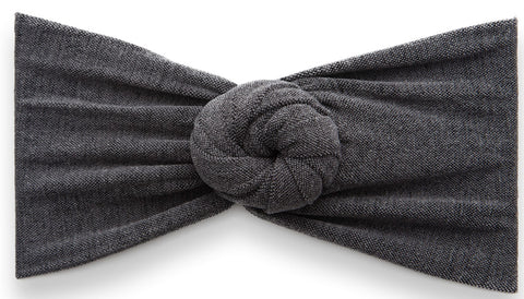 Baby Bling Heathered Bun-Charcoal - Basically Bows & Bowties