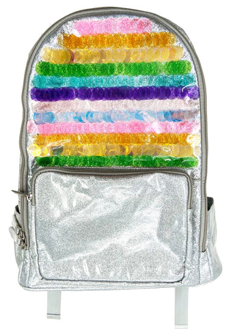 Bari Lynn Rainbow Sequin Backpack