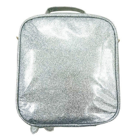 Bari Lynn Silver Glitter Lunch Box