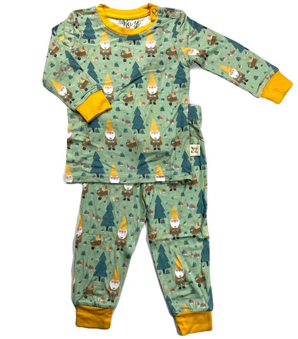 Kozi & Co Garden Gnome L/S Pajama Set with Pants