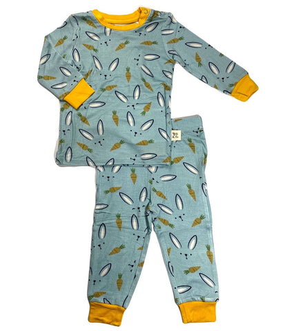 Kozi & Co Hello Bunny Long Sleeve Pajama Set with Pants