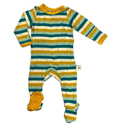 Kozi & Co Grasshopper Stripe Footie