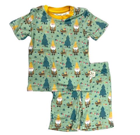 Kozi & Co Garden Gnome S/S Pajama Set with Shorts