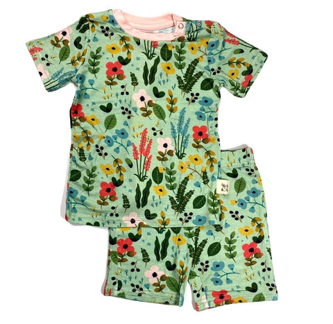 Kozi & Co Le Jardin Short Sleeve Pajama Set with Shorts