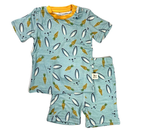 Kozi & Co Hello Bunny Short Sleeve Pajama Set with Shorts