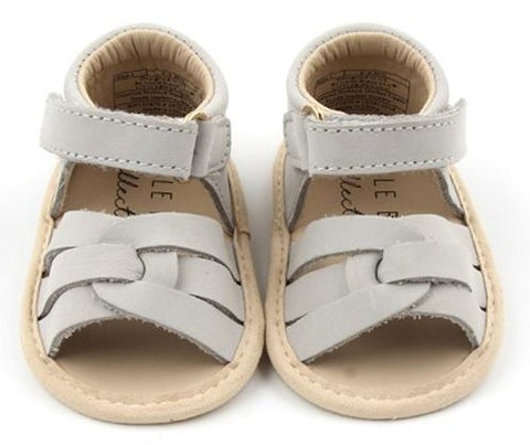 Little Bipsy Collection Grey Remy Sandals Basically Bows & Bowties