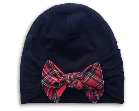Baby Bling Black Knot Beanie Basically Bows & Bowties