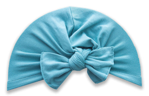 Baby Bling Teal Knot Turban Basically Bows & Bowties