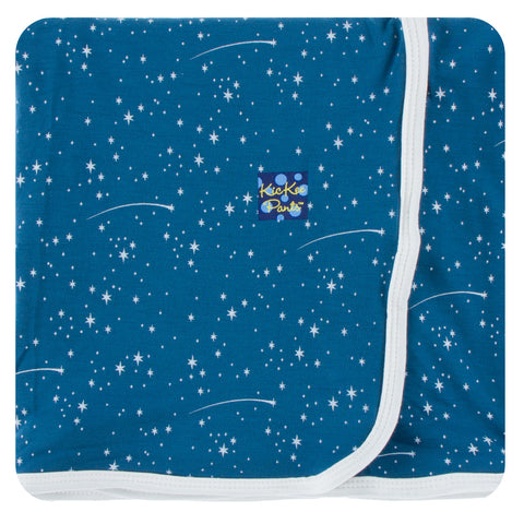 KicKee Pants Twilight Starry Sky Print Swaddling Blanket