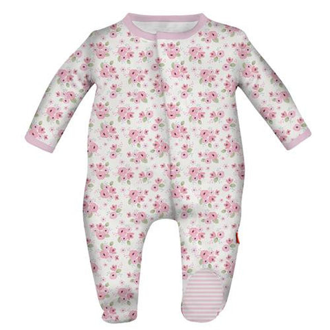Magnetic Me by Magnificent Baby Kensington Floral Footie
