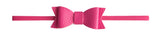 Baby Bling Leather Bow Tie Skinny Headband (20+ Colors)