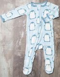 Bestaroo Blue Penguins Footie with Zipper