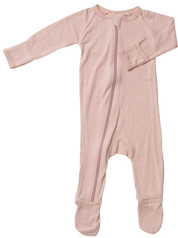 Bestaroo Solid Pink Footie with Zipper