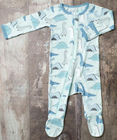 Bestaroo Dino Zippered Footie  Basically Bows & Bowtiues