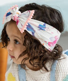 Baby Bling Party Animal w/Coral Pom Trimmed Knot Headband - Basically Bows & Bowties
