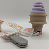 Sweetooth Lovely Lilac Ice Cream Cone Teether