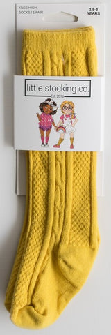 Little Stocking Co Mustard Knee High Socks