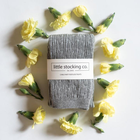Little Stocking Co Gray Footless Tights