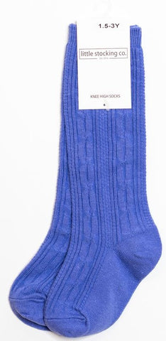 Little Stocking Co Knee High Sock - Periwinkle
